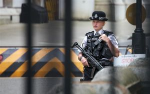 Armed Policewoman UK by d3lf
