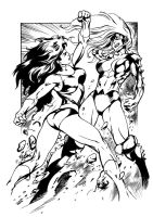 She-Hulk vs Titania by JasonConrad