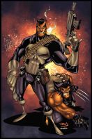 Punisher___Wolvie by KUMIKER