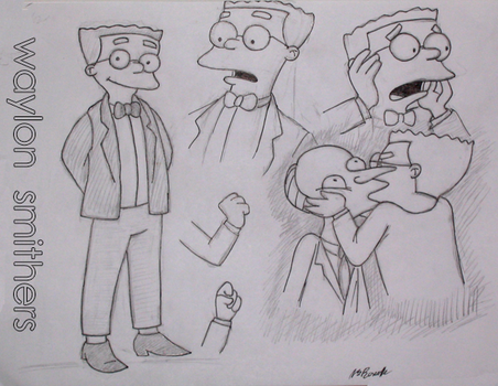 sketches of Smithers by spider-pie