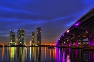 Miami Skyline II by Aerostylaz