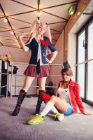 Junko and Aoi Cosplay Dokomi 2014 by llAngelusll