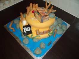 Pirate Island Cake 8 by BevisMusson