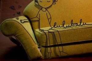 yellow sofa by lubalubumba