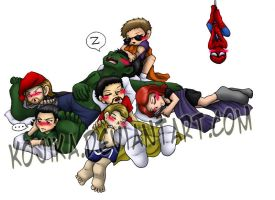 Sleepy Chibivengers by kojika