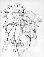 wolfguy and girl by beamer