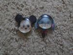 mickey mouse and Eeyore glass gem magnets by spookykatelyn