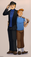 SeF - Cosplaying Tintin x Haddock by Atlas-White