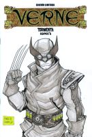 Wolverine Steampunk sketch cover by mdavidct