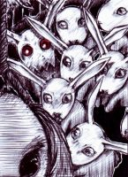 ACEO Nr23 the rabbit's doubt by Lollyviech
