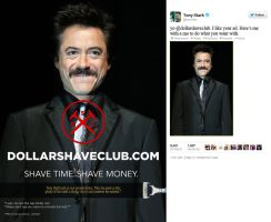 Dollar Shave Club ad featuring Tony Stark by nottonyharrison