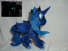 Princess Luna plush - Glows in the dark by PlanetPlush