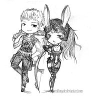 Balthier and Fran- FF XII by Ornithogale