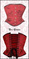 Red silk corset by Stahlrose