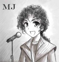 Michael Jackson in manga style by Takamin