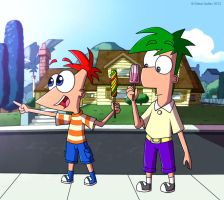 Little Phineas and Ferb by sadvi