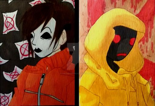 [CreepyPasta] Masky and Hoodie by LullabysWorld
