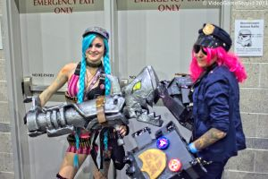 Rhode Island Comic Con 2014 - Jinx and Officer Vi by VideoGameStupid