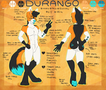 Durango ref sheet *gift* by coffaefox