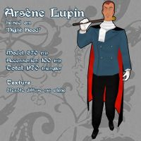 Arsene Lupin 3D Model by CelebrenIthil