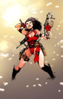 lady deadpool...sort'a by lazeedog