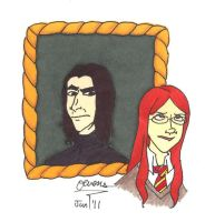 HPNG: Snape and Lily Luna by Jetsir