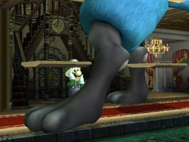 Giant Lucario in Luigi Mansion by THEJAO1000