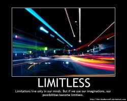 Motivational Poster: Limitless by the-shadowwolf