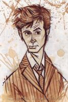 David Tennant Sketchadoodle by littlecrow