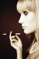 retro smoking woman by photonicholas