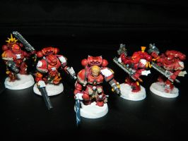 Blood Angels Squad 1 by Ralij