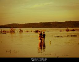 Family fishing by ipawluk