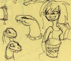 Mystra and Rover_sketches5 by Mystra-Inc