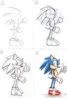 How to draw- Sonic by Tauregil