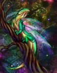 Iridescent Lizard Fly by Ai-Don