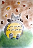 Baby Totoro by saffyminty