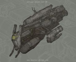 Salvage Vessel WIP by MikeDoscher