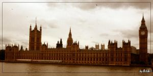 The Houses of Parliament by Lisa-with-sax