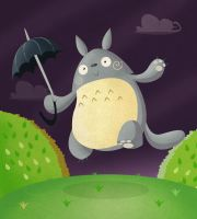 my neighbor totoro by xochiltana
