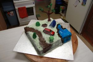 Camp Site Cake by The-Ice-Flower