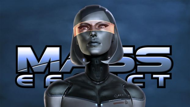 EDI. Mass Effect Wallpaper by JakeCarver