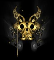 Golden Dragon Mask. by rockgem