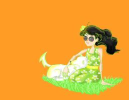 homestuck: jade enjoy summer with bec by the-ghostfactory