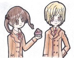 A Cupcake for Kashino by spammusubi24