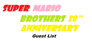 super mario bros 28th Anniversary party list by trexking45