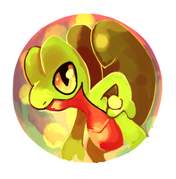 Treecko Button Design by LizardonEievui13