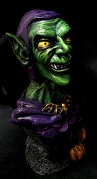 Green Goblin statue by RavenousEFX