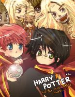 ILLUST3 - HARRY POTTER by monkeypunch