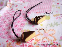 Chocolate and Cream Pie Cell Pin by alicoe