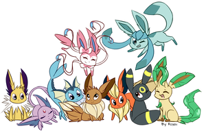 The Eeveelutions by Roxzi-Wolf